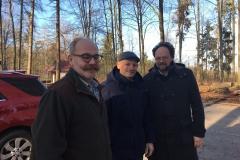 Forstreferent Dieter Allig, Frank Meidhof und Patrick Friedl