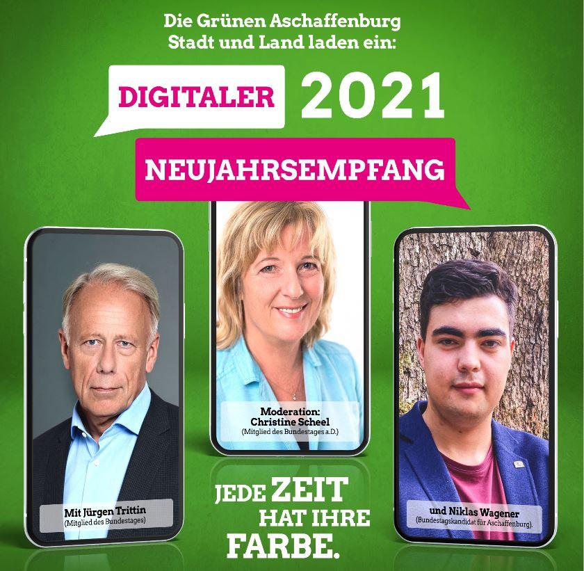 Gemeinsamer digitaler Neujahresempfang der Grünen Kreisvebände AB-Stadt und AB-Land